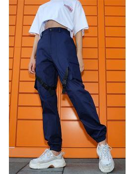 Ribbon Clasps Loose Cool Pants by Lupsona