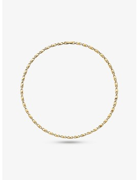 Precious Metal Plated Sterling Silver Small Mercer Link Necklace by Michael Kors