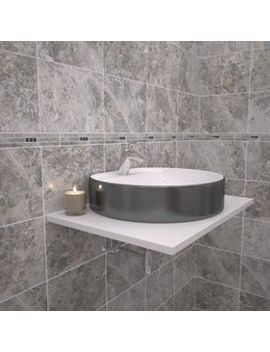 Wickes Light Cappuccino Marble Effect Border Tile 275 X 50mm by Wickes