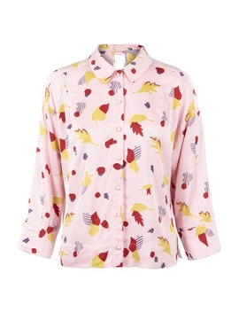 Pretty In Pink Blouse by Olivar Bonas