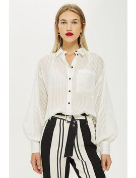 Self Stripe Shirt by Topshop