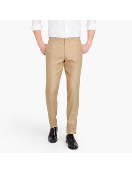 Ludlow Slim Fit Tuxedo Pant In Linen Silk by J.Crew