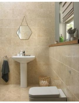 Wickes Amalfi Mocca Beige Ceramic Tile 360 X 275mm by Wickes