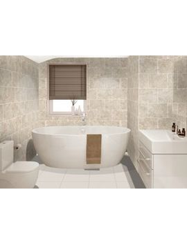 Wickes Avellino Cappuccino Beige Ceramic Tile 360 X 275mm by Wickes
