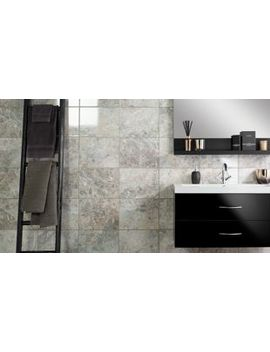 Wickes Avellino Cappuccino Grey Ceramic Tile 360 X 275mm by Wickes