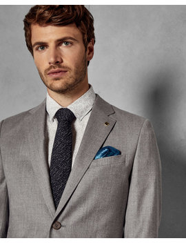 Debonair Skinny Wool Suit Jacket by Ted Baker