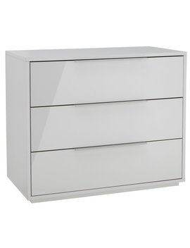 Hygena Bergen 3 Drawer Chest   White Gloss by Argos