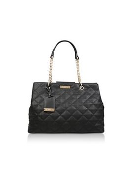 Carvela   Black 'blair Quilted Shopper' Quilted Tote Bag by Carvela