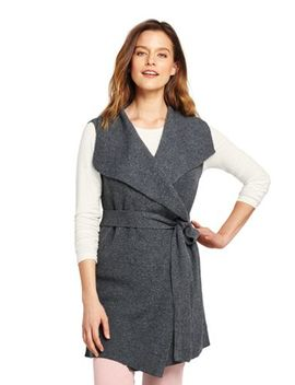 Women's Lofty Bend Tie Vest by Lands' End