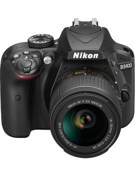 """Nikon D3400 (Versión Europea Sin Acceso A Nikonistas Ni Promociones Especiales)   Kit De Cámara Réflex Digital De 24.2 Mp Con Objetivo Estabilizado 18 55 Afp Dx Vr (Pantalla Lcd 3"""", Inalámbrica Con Snapbridge, Vídeo Full Hd), Color Negro by Nikon"""