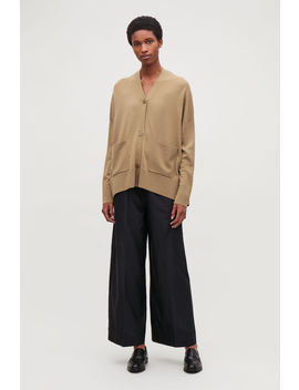 Back Drape Wool Cardigan by Cos