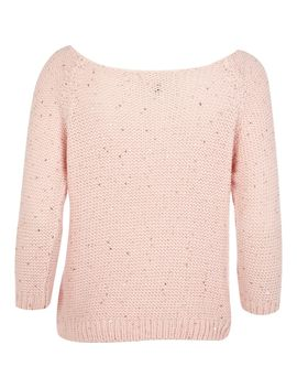 Pink Sequin Jumper by River Island