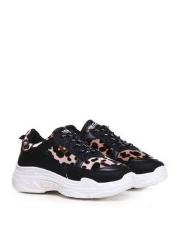 Ajar Leopard Chunky Trainers by Koi Footwear