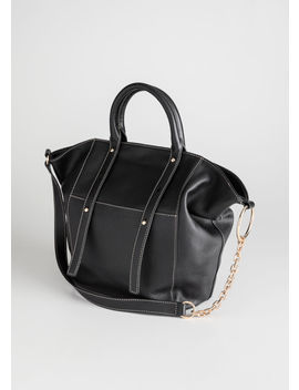 Large Leather Tote Bag by & Other Stories