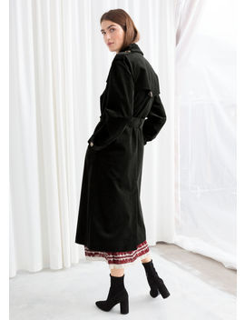 Belted Cotton Cord Trenchcoat by & Other Stories