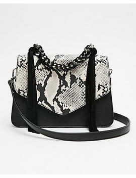 Chain Handle Snake Print Bag by Express