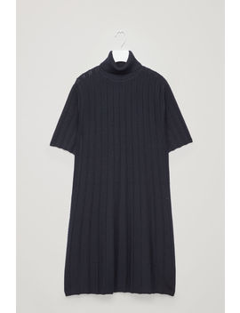 Scallop Pleated Knit Dress by Cos