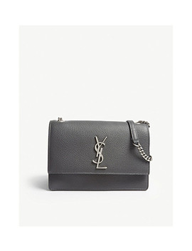 Monogram Sunset Small Grained Leather Cross Body Bag by Saint Laurent