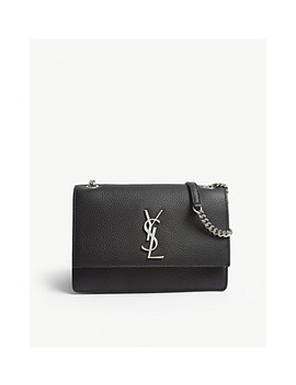 Sunset Small Leather Shoulder Bag by Saint Laurent