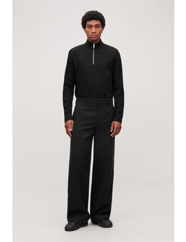 Flared Cotton Wool Trousers by Cos