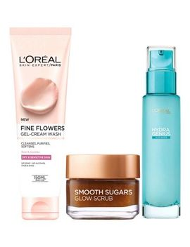 L'oreal Paris Dry Skin 3 Step Prep Kit   Cleanse Exfoliate Hydrate by L'oreal