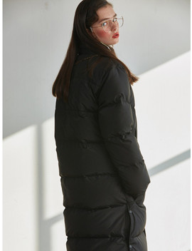[Unisex]Duck Down Bench Coat 950 Black by Sculptor