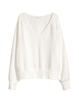 Sweatshirt Mit V Ausschnitt by H&M