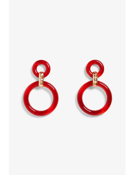 Red Hoop Earrings by Monki