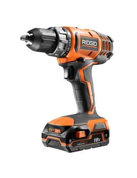 18 Volt Cordless Lithium Ion 1/2 In. Compact Drill/Driver Kit With (1) 1.5 Ah Battery And Charger by Ridgid