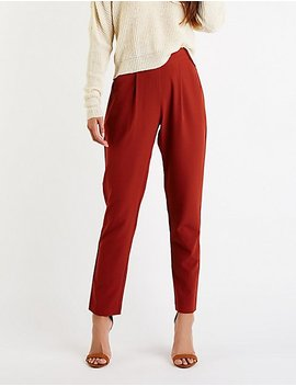 Pleated Trousers by Charlotte Russe