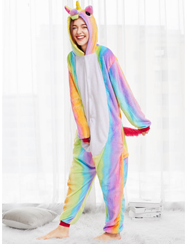 Rainbow Unicorn Onesie by Romwe