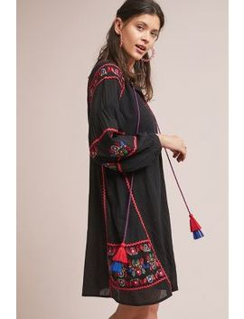 Loane Embroidered Peasant Dress by Velvet By Graham & Spencer