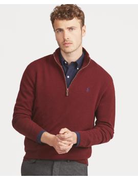 Merino Wool Half Zip Sweater by Ralph Lauren