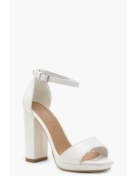 Peeptoe 2 Part Platform Heels by Boohoo