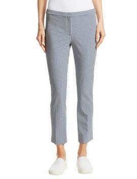 Classic Skinny Gingham Pants by Theory