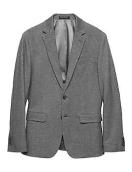 Slim Fit Grey Texture Knit Blazer by Banana Republic Factory