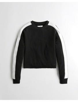 Terry Crewneck Sweatshirt by Hollister