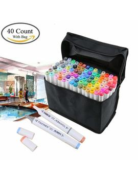 40 Colors Art Marker Set Alcohol Dual Headed Artist Sketch Permanent Markers Pen For Coloring Drawing Painting by Amazon