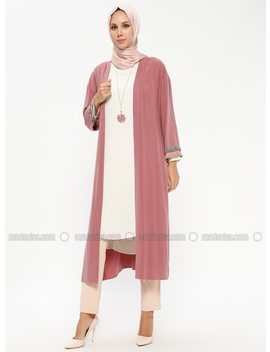 Dusty Rose   Unlined   Suit   Nihan by Modanisa