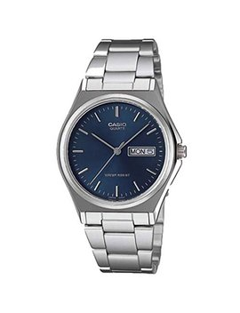 Casio Men's Mtp1240 D 2 A Silver Stainless Steel Quartz Watch With Blue Dial by Amazon