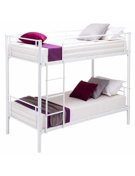 Mecor Metal Bunk Bed Undetachable Twin Over Twin Bunk Beds Frame Movable Ladder, Metal Slats Kids/Teens/Adult/Children White by Mecor
