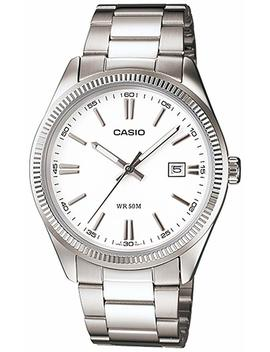 Casio Men's Mtp1302 D 7 A1 V White Stainless Steel Quartz Watch by Amazon