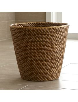 Sedona Honey Tapered Waste Basket/Trash Can by Crate&Barrel