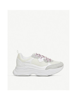 Fizzled Suede And Mesh Trainers by Office