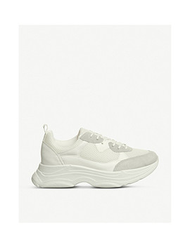 Fizzled Mesh Panelled Faux Suede Trainers by Office