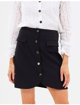 Iconic Exclusive   Sasha Button Front Skirt by Atmos&Here