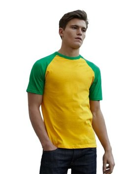 Shortsleeve Baseball T Shirt Von Fruit Of The Loom S M L Xl Xxl Verschiedene Farben by Amazon