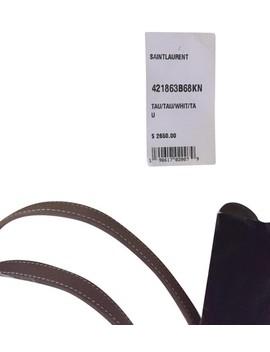 Sac De Jour Baby Taupe Leather Satchel by Saint Laurent