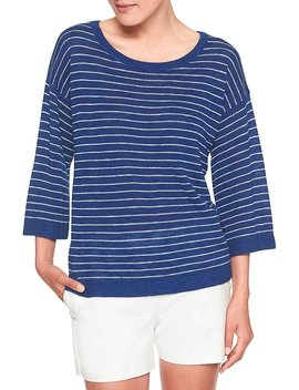 3/4 Sleeve Stripe Sweater by Banana Republic Factory
