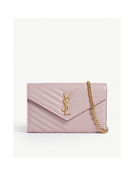 Monogram Quilted Leather Cross Body Bag by Saint Laurent